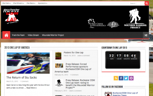 One Lap of America WWP WordPress Site Design