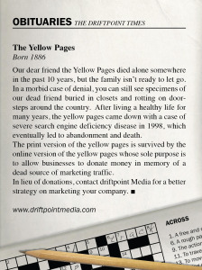 Are the Yellow Pages Dead