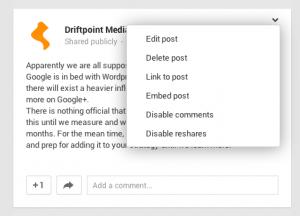 embed GooglePlus Post
